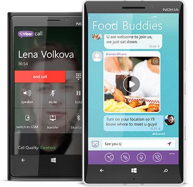Viber для Nokia Windows